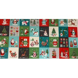Panel patchwork navideño 2228