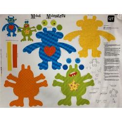 Panel patchwork Monstruos...