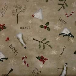 Tela Navidad patchwork 21118