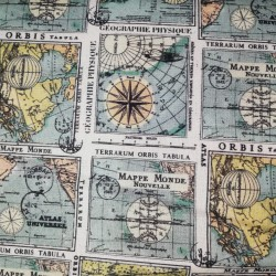 Tela patchwork Mapas 7055