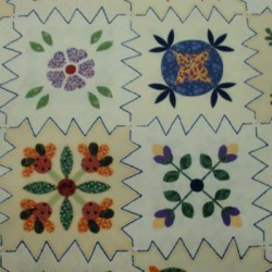 Panell patchwork flors 8218