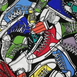 Tela patchwork zapatillas...