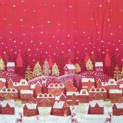 Tela camino de mesa Navidad...