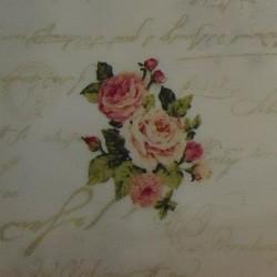 Roba patchwork flors rosas...