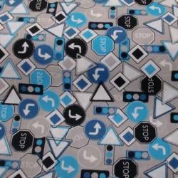 Tela patchwork señales de...