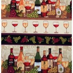 Tela patchwork cenefas vino...