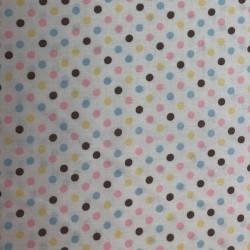 Tela patchwork topos 4506